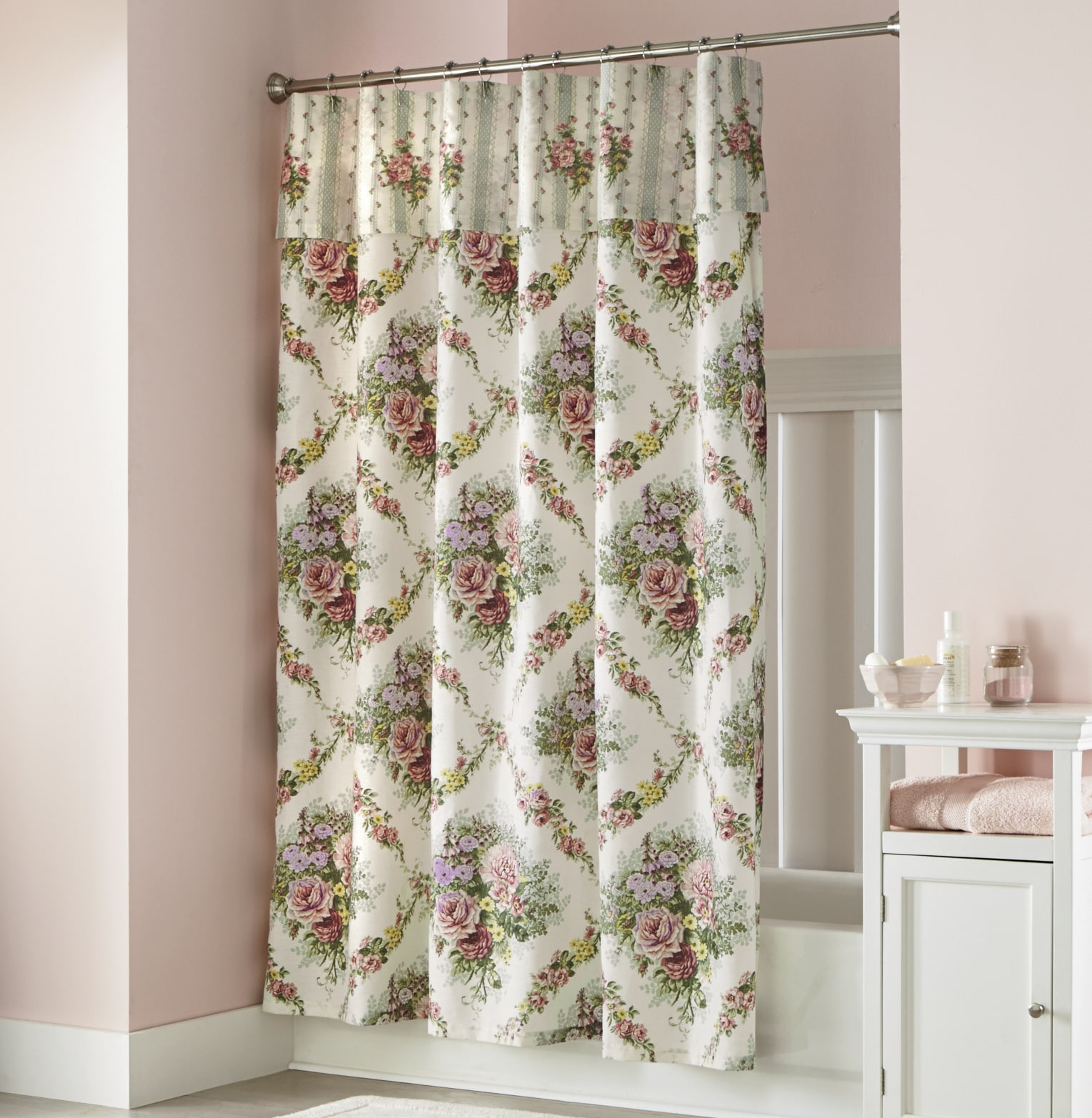 https www wards com p cottage rose shower curtain with attached valance 705064 html