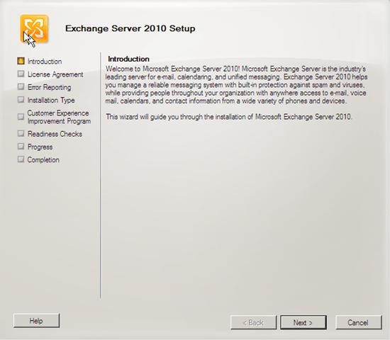 install exchange 2010 | Ward Vissers - Part 2