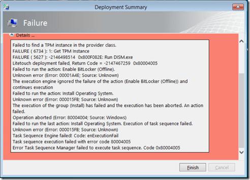 MDT Packages Error