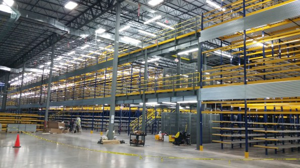 3 Level Rack and Mezzanine Supported
