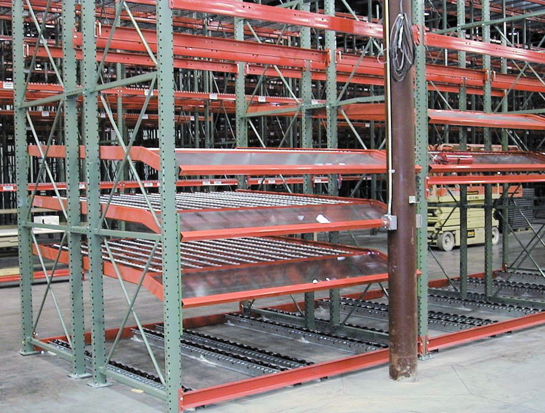 Carton & Pallet Flow Rack Supported