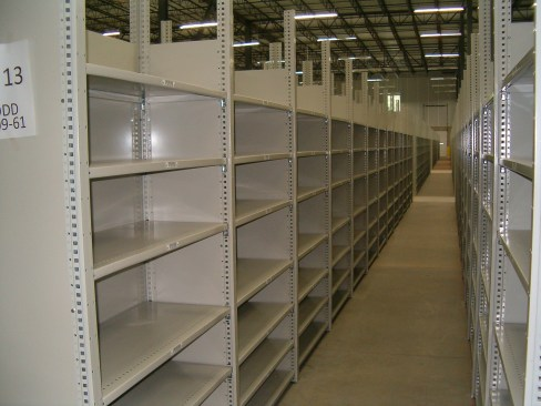 Closed Metal Shelving (2)