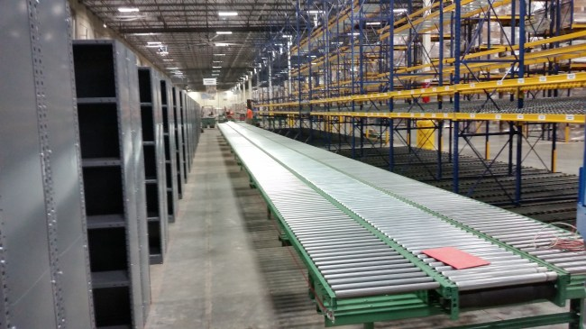 Closed Metal Shelving - Pick To Conveyor