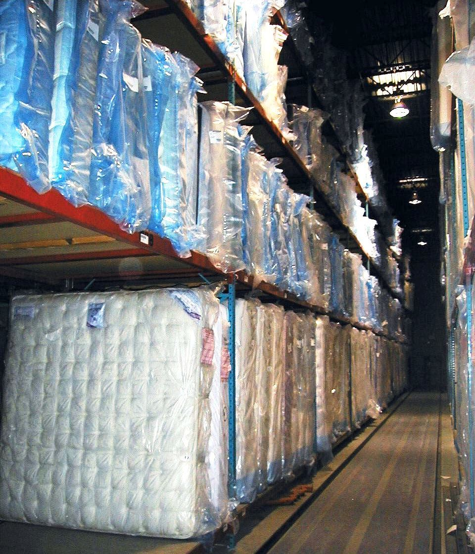 Mattress storage in selective rack
