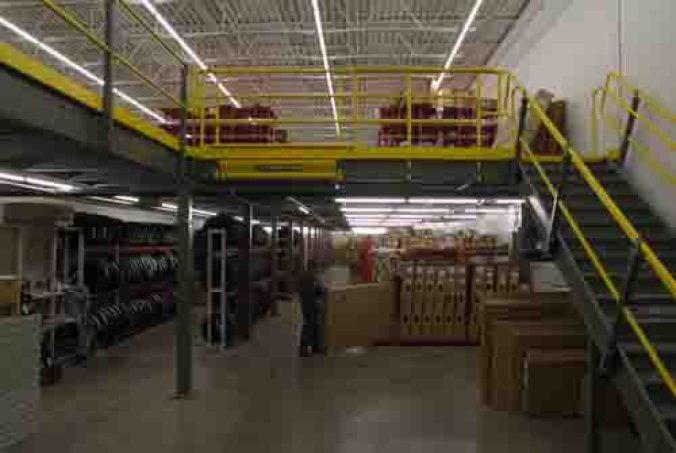 Mezzanine Over Processing Area