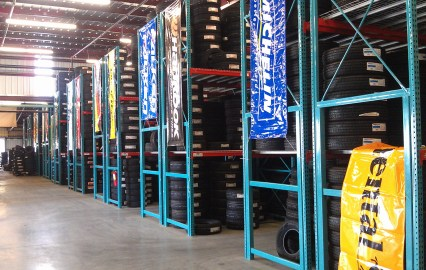 Tire Storage With Heavy Duty Frames