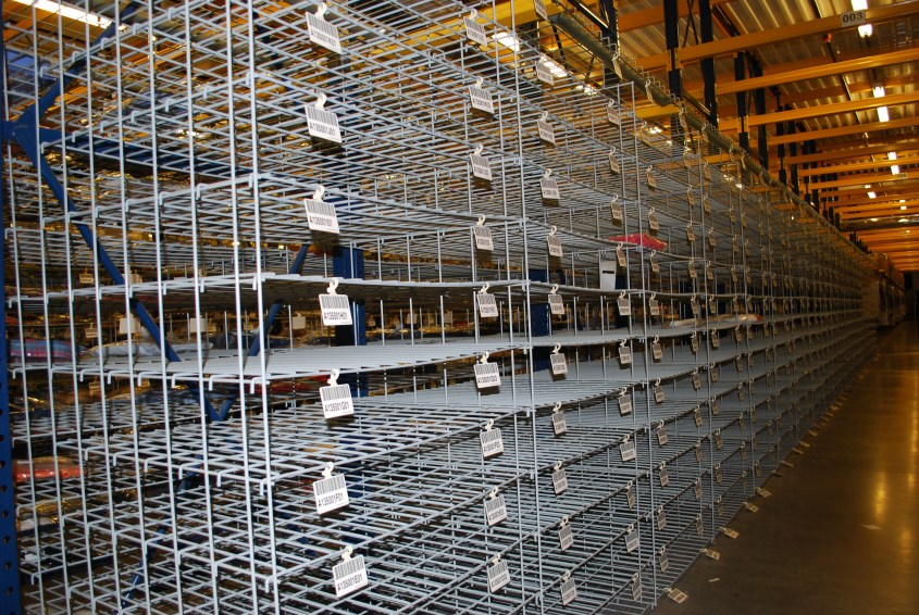 Wire Mesh Hanging Shelves