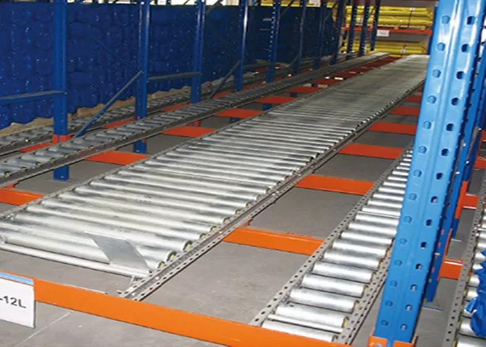 adjustable gravity flow pallet rack