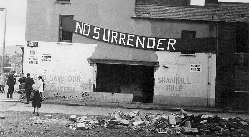 Northern Ireland - Shankill Road, Belfast, c1970 (Fribbler, family album)