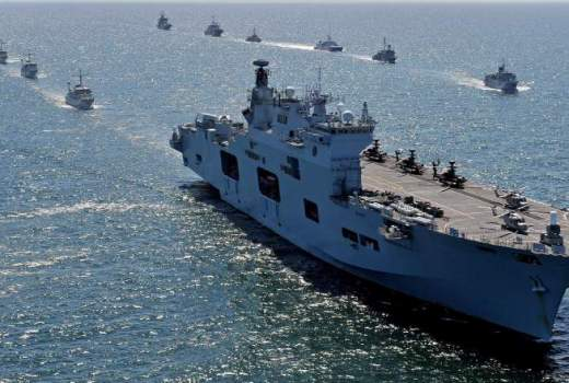 Royal Navy, The Helicopter Carrier HMS Ocean during Exercise BALTOPS 2015 [Crown Copyright, 2015)