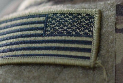 US Army Uniform with USA Flag