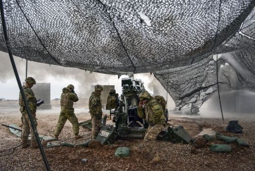 US Army give fire support to Iraqi security forces, Mosul counter-offensive, 24 Dec 2016, by Daniel Johnson