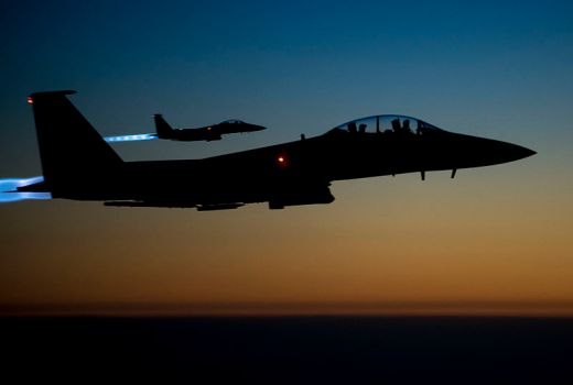 USAF F-15E Strike Eagles in Op Inherent Resolve