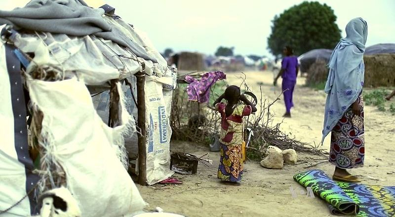 Africa, Refugee Camp in Maiduguri, Nigeria (VOA, 2016)
