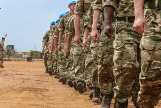 British Army Operation TRENTON, soldiers deploy to South Sudan, Africa (Crown Copyright)