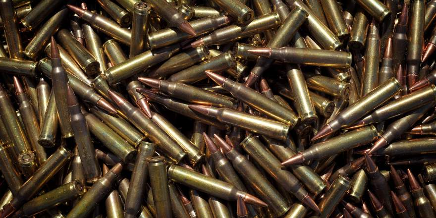 Bullets - 5-56 ammunition rounds for use in the SA80 assault rifle (Crown Copyright, 2010) [880x440]