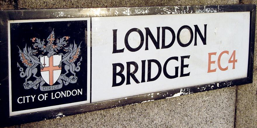 Islamic Terrorism, London Bridge, City of London signage