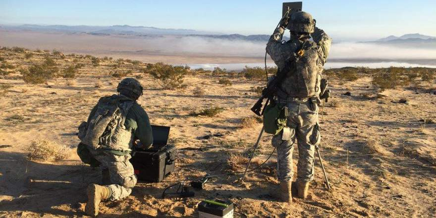 US Army 780th Military Intelligence Brigade conduct cyberspace operations training for the 2nd Stryker BCT, 2nd Inf Div, National Training Center, Fort Irwin, CA., Jan 24, 2016