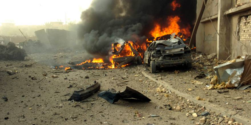 Vehicle Born Improvised Explosive Device outisde offices of Al Sabah newspaper, Baghdad, Iraq (US Navy 2006) [880]