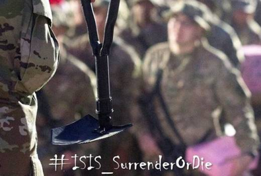 US Army, John Wayne Troxell Threatens ISIS with Entrenching Tool