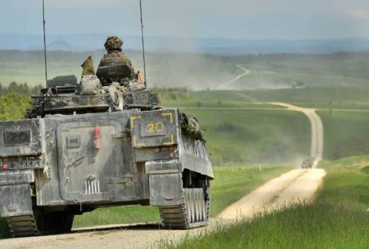 British Army, 20th Armoured Infantry Brigade, Warrior Armoured Infantry Fighting Vehicle at Grafenwöhr, Germany (Crown Copyright, 2013)