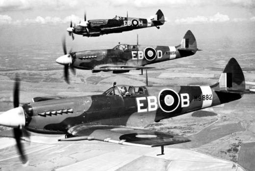 RAF (RAF 100) 41 Squadron Spitfires World War II (Crown Copyright) [news licence]