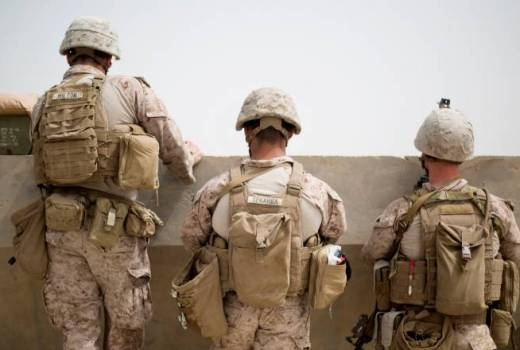 US Marine Corps assist Afghan National Army, Afghanistan, Resolute Support, Freedoms Sentinel (USMC, 2018)