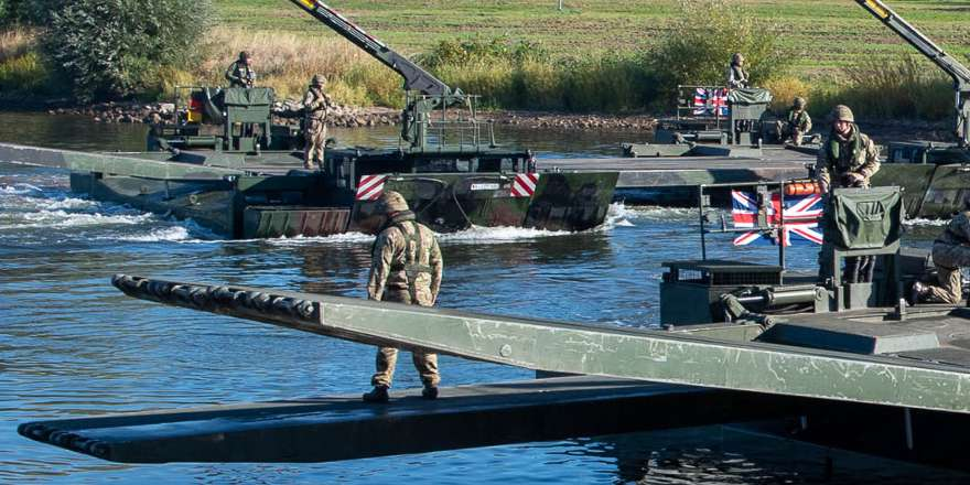 British Army, Corps of Royal Engineers, 75 ER, Amphibious Engineer Troop with M3, Minden (Crown Copyright, 2018) [880]