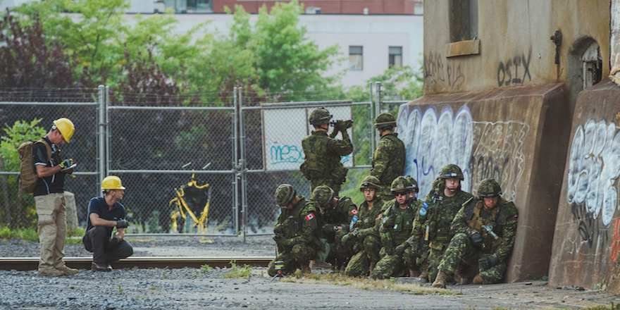 MOD SAPIENT at Contested Urban Environment (CUE18), Montreal, Canada (Crown Copyright, 2018) [880]