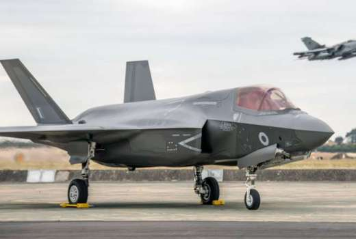 RAF 617 Squadron F-35B Lightning II Joint Strike Fighter Grounded (Crown Copyright, 2018) [880]