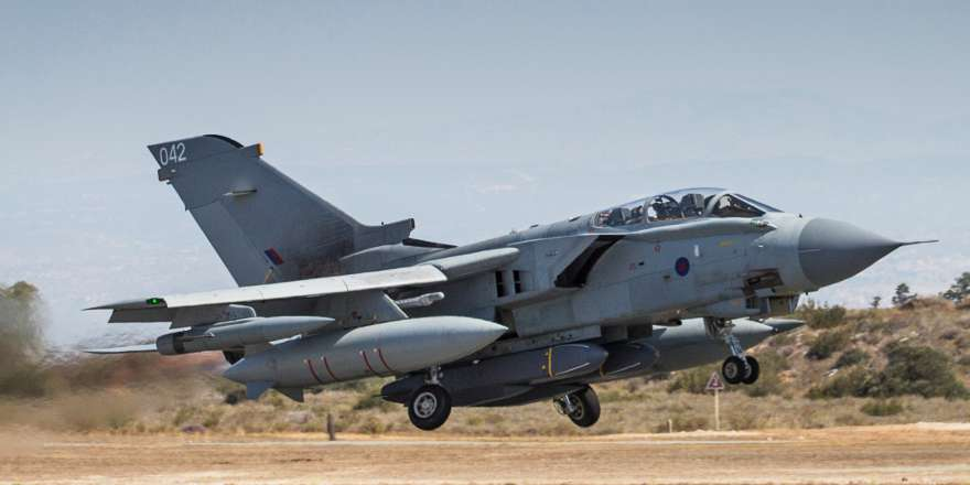 RAF 903 Expeditionary Airwing Tornado GR4 taking off from RAF Akrotiri for missions over Iraq and Syria, Op SHADER (Crown Copyright, 2016) [880]