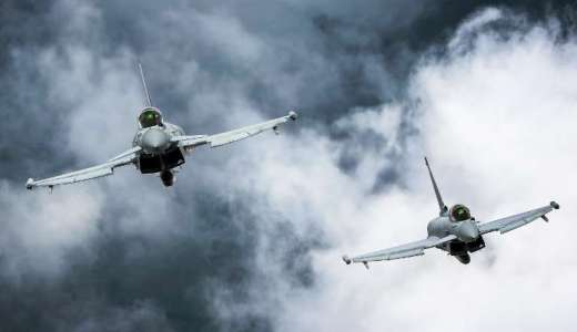 RAF Typhoon FGR4 are deployed on Op SHADER against Islamic State (Crown Copyright, 2018)[880]