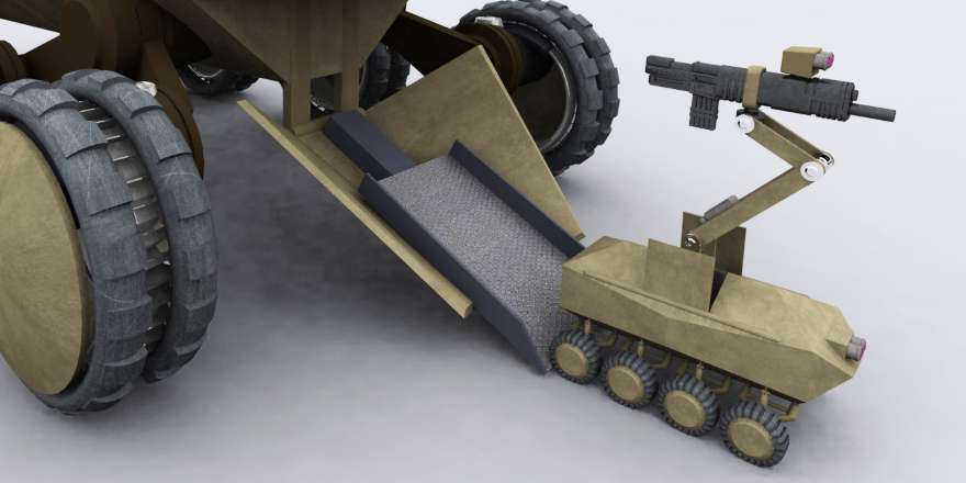 British Army Future Protected Vehicle called Dron, MOD Defence Technology Plan (Crown Copyright, 2009) [detail]