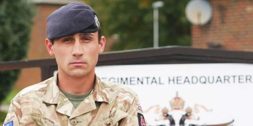 British Army 1st Queens Dragoon Guards Trooper Ross Woodward Queens Commendation for Gallantry (Crown Copyright, 2018)