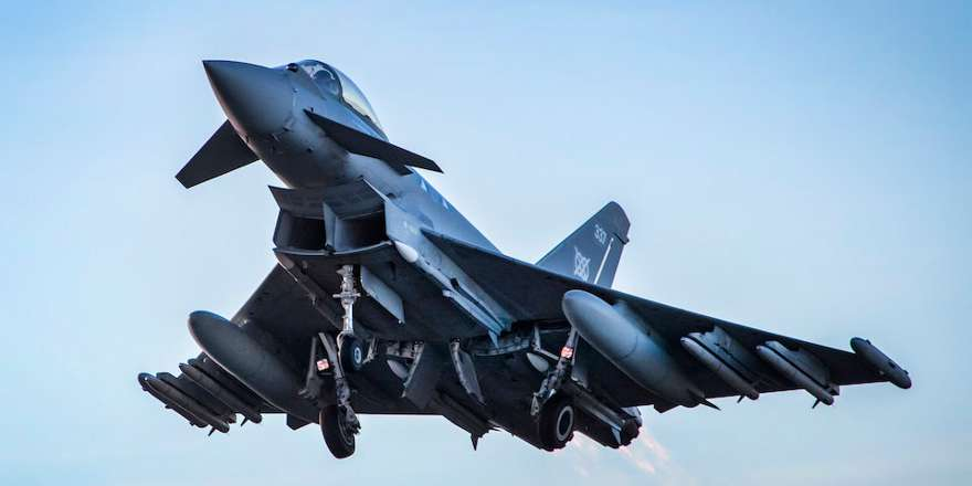 Typhoons First Flight Armed with Meteors