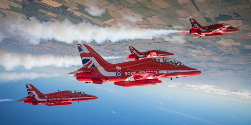 RAF Red Arrows USA Canada Tour Dates 2019 (Crown Copyright, 2019)