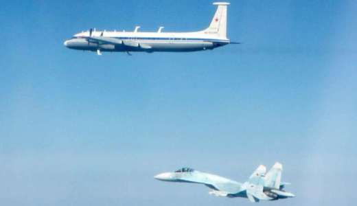 Russian Air Force SU-27 Flanker intercepted by RAF Typhoons, Baltic Air Policing, Estonia (Crown, 2019) [880] [news]