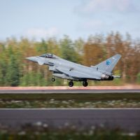 6 Squadron deployed in Lithuania intercept aircraft off the Baltic coast