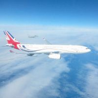 RAF Typhoons Monitor Russian Aircraft with VIP Voyager