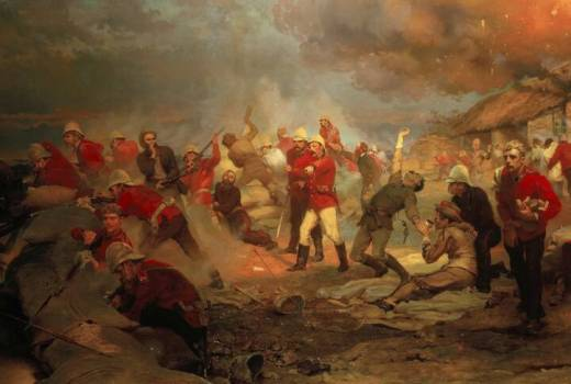 British Army, Anglo-Zulu War, Defence of Rorke's Drift by Elizabeth Thompson (1880, Royal Collection)