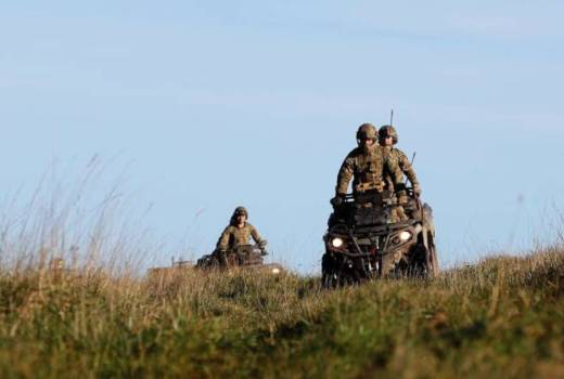 Royal Marines 45 Commando, CanAm 6x6 Salisbury Plain (Crown 2020)
