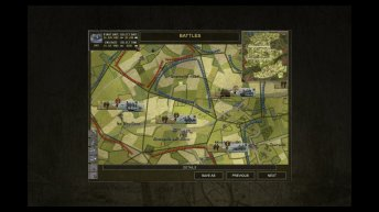 La Carte Stratégique dans Close Combat: Gateway to Caen.