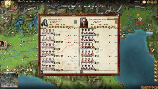 Prince Eugene wins his first success, Austrian elite units trash the French regular regiments