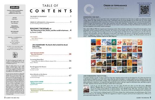 Against The Odds 50 Table of contents