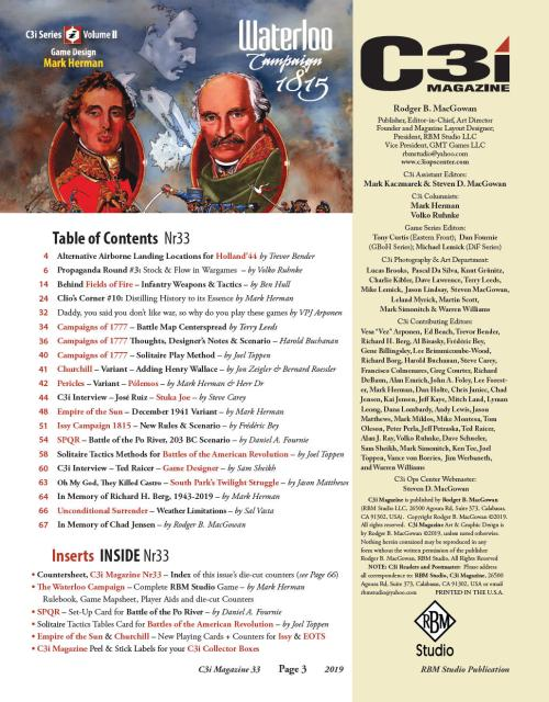 C3i 33 Table of contents