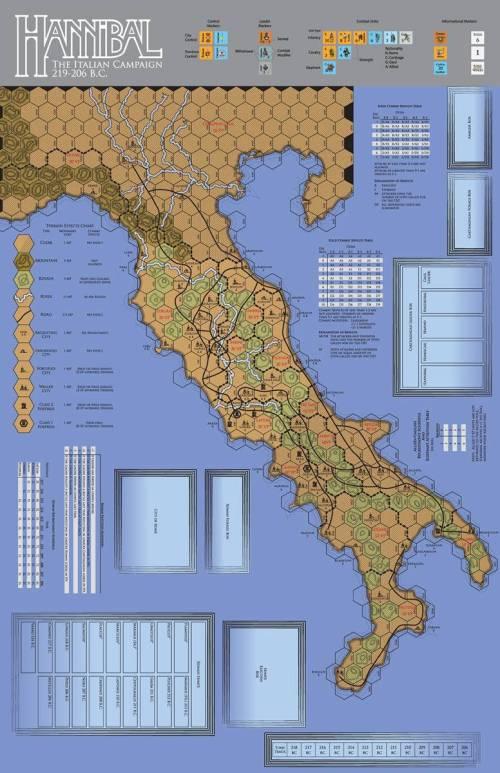 Paper Wars 95 - map Hannibal