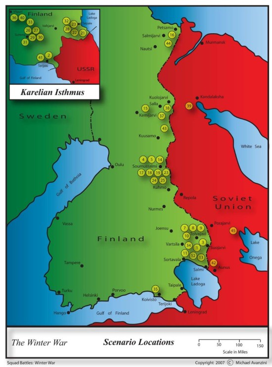 Squad Battles - Winter War - scenarios locations