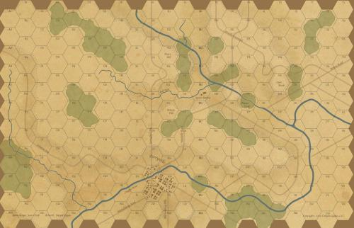 Paper Wars 96 - Map Perryville