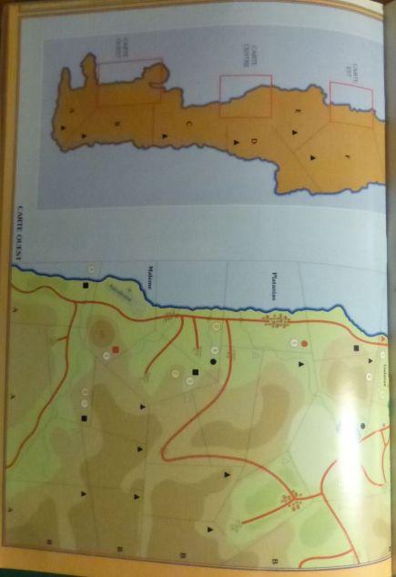 VaeVictis 22 - Crète 1941 - carte