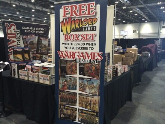 The WI trade stand from Salute 2015
